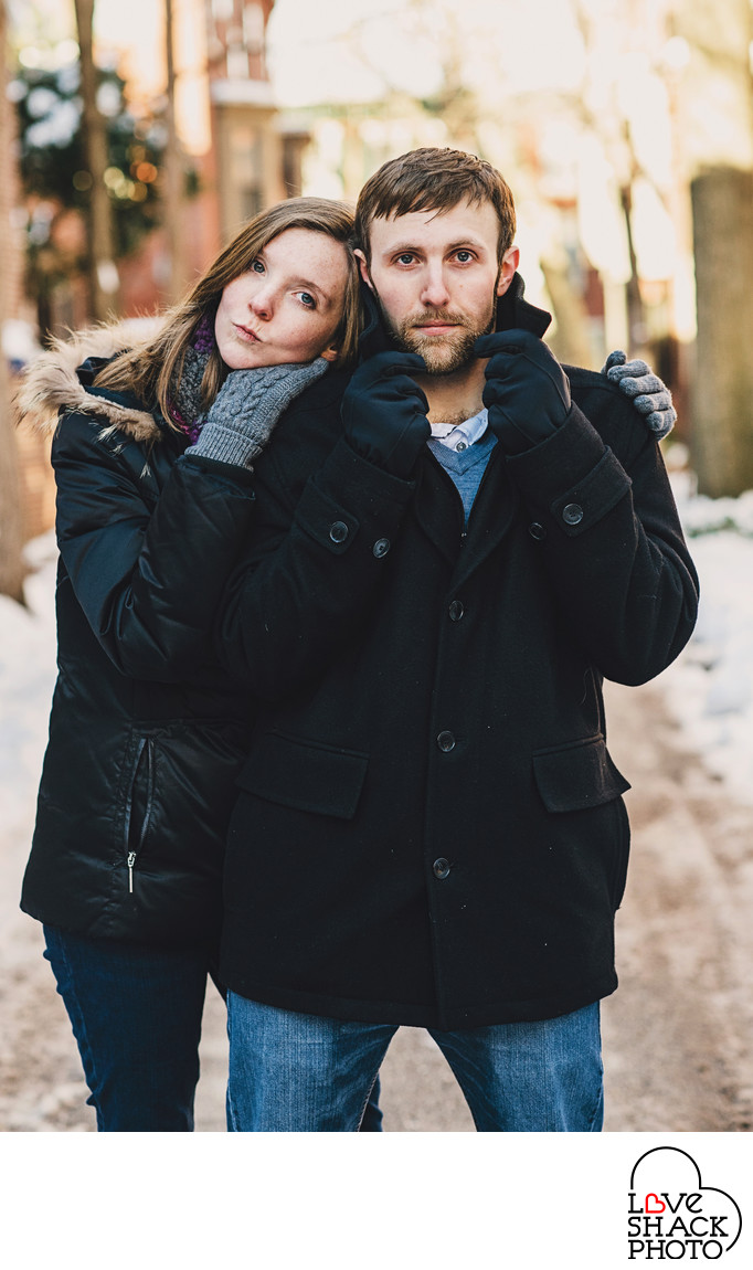 Winter Engagement Session in Philadelphia