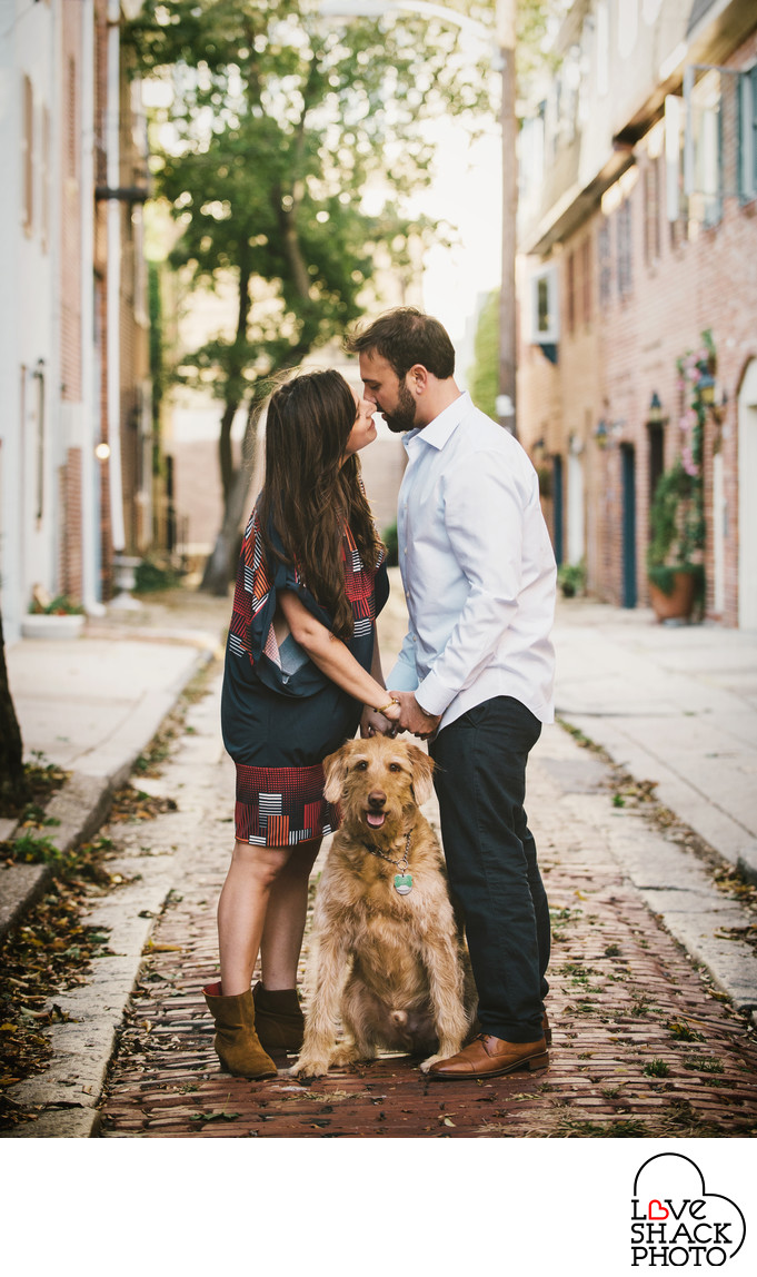 Philadelphia Engagement with Dog