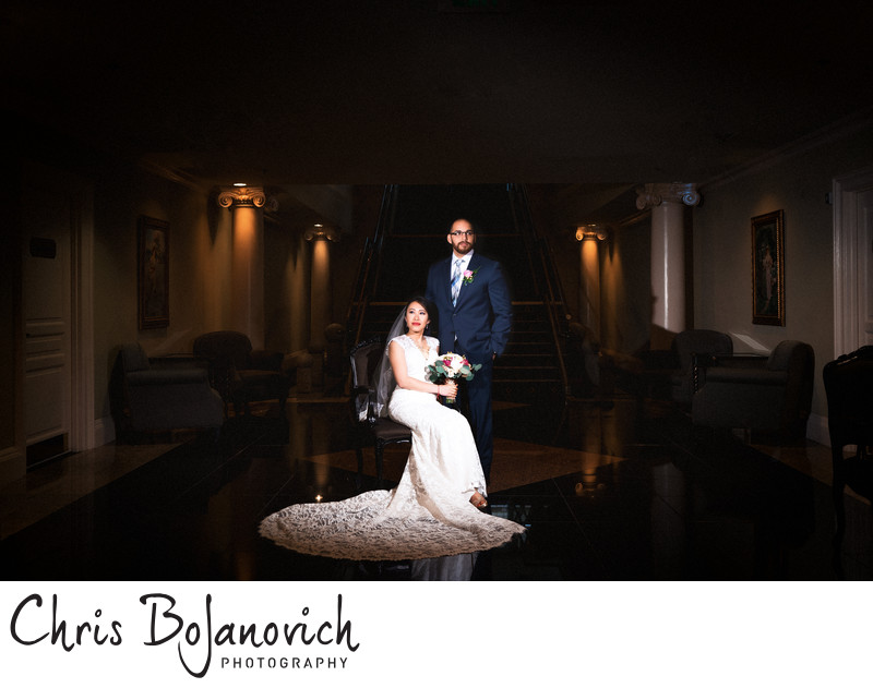 The Waterview Wedding Bride and Groom Portrait
