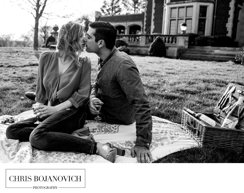 Waveny Park Engagement Photoshoot