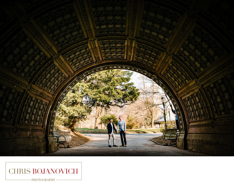 Prospect Park NYC Gay Engagement Photoshoot