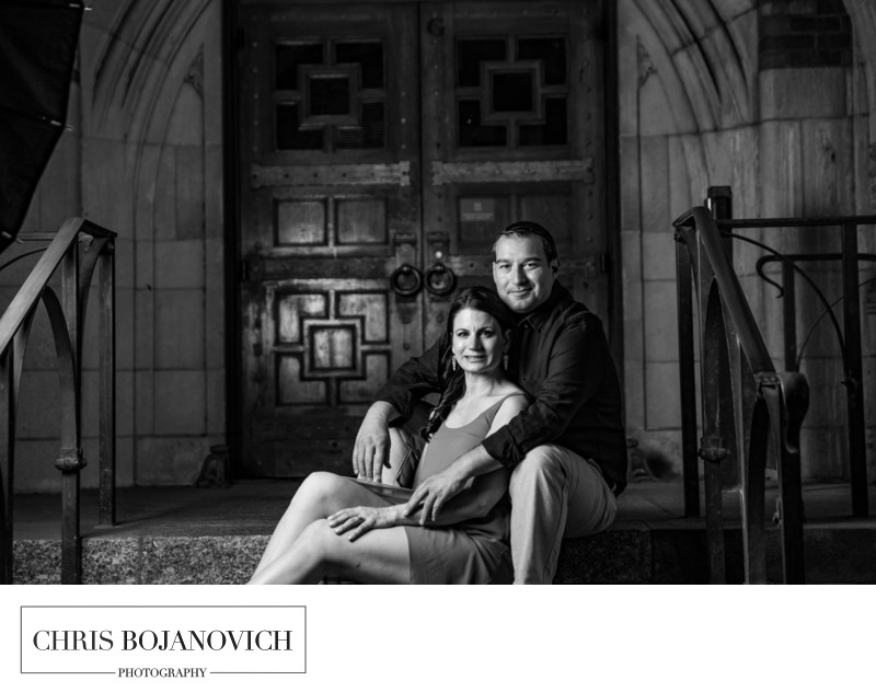 Yale New Haven CT Engagement Photos