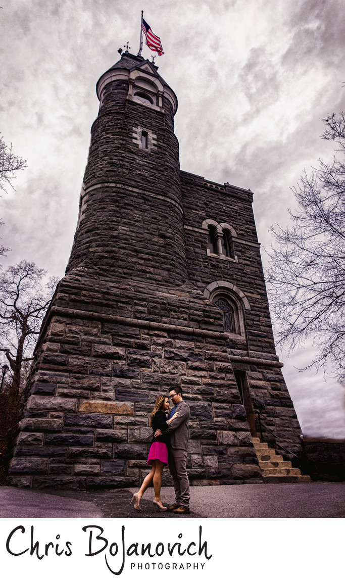 Engagement Belvedere Castle Central Park NYC