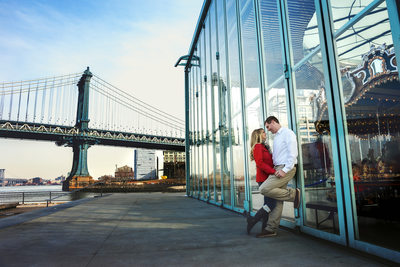 Engagement Session at Janes Carousel Brooklyn