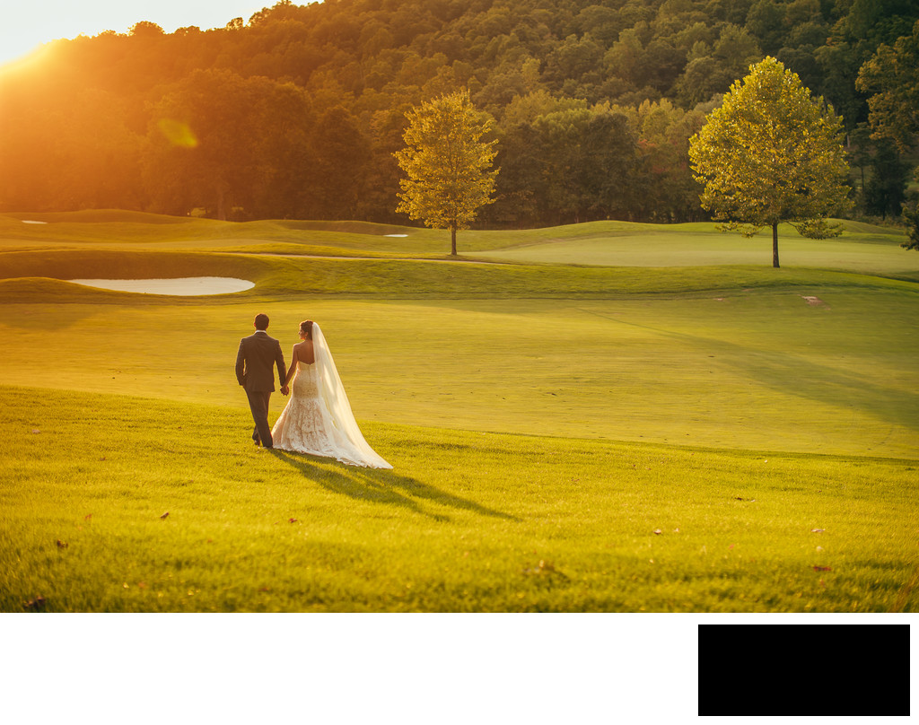 Hollow Brook Golf Club wedding photos by sean kim