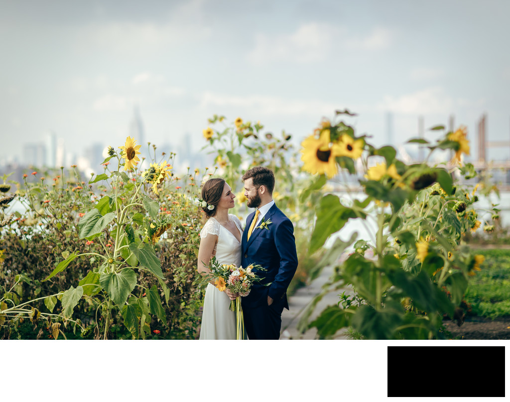 BROOKLYN GRANGE ROOFTOP FARMS Wedding Photos by sean