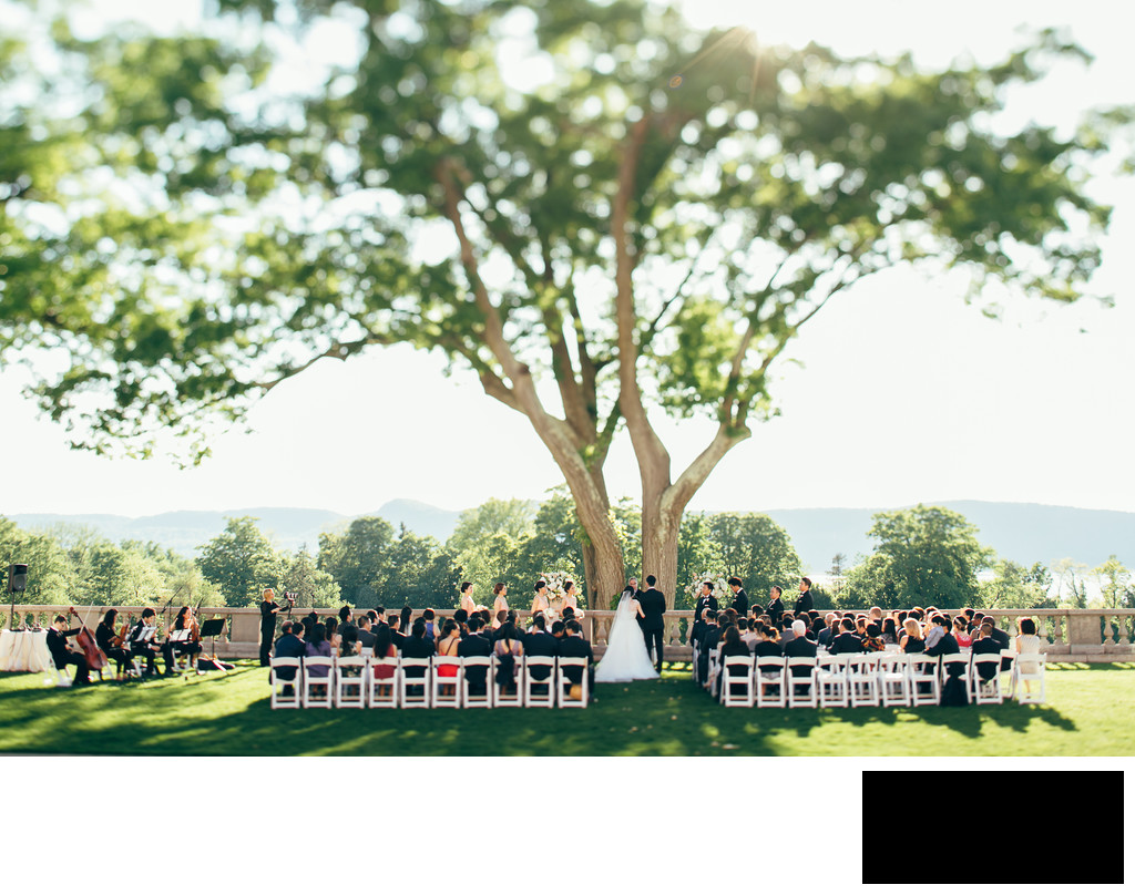 sleepy hollow country club wedding ceremony by seankim
