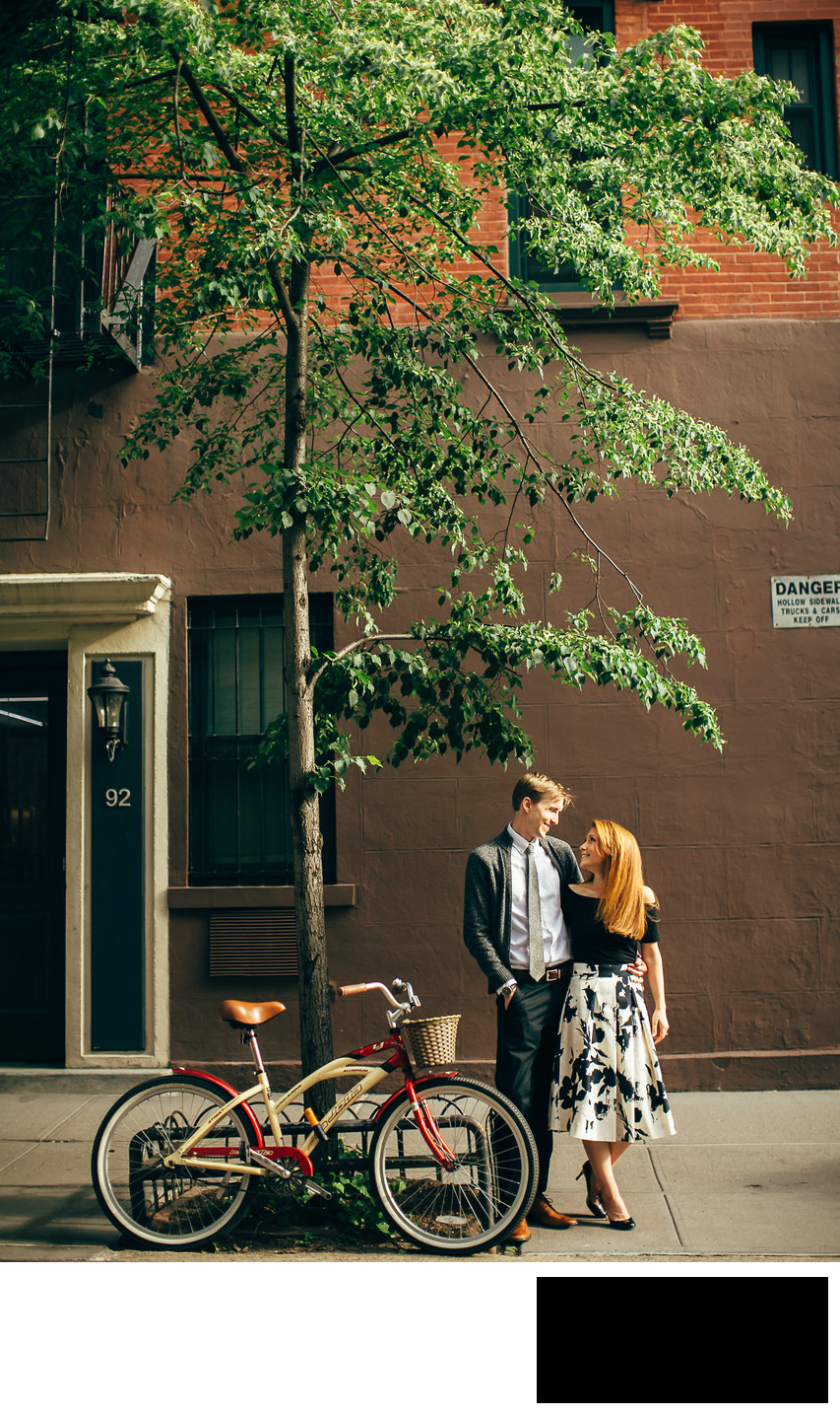 west village in nyc engagement photo idea