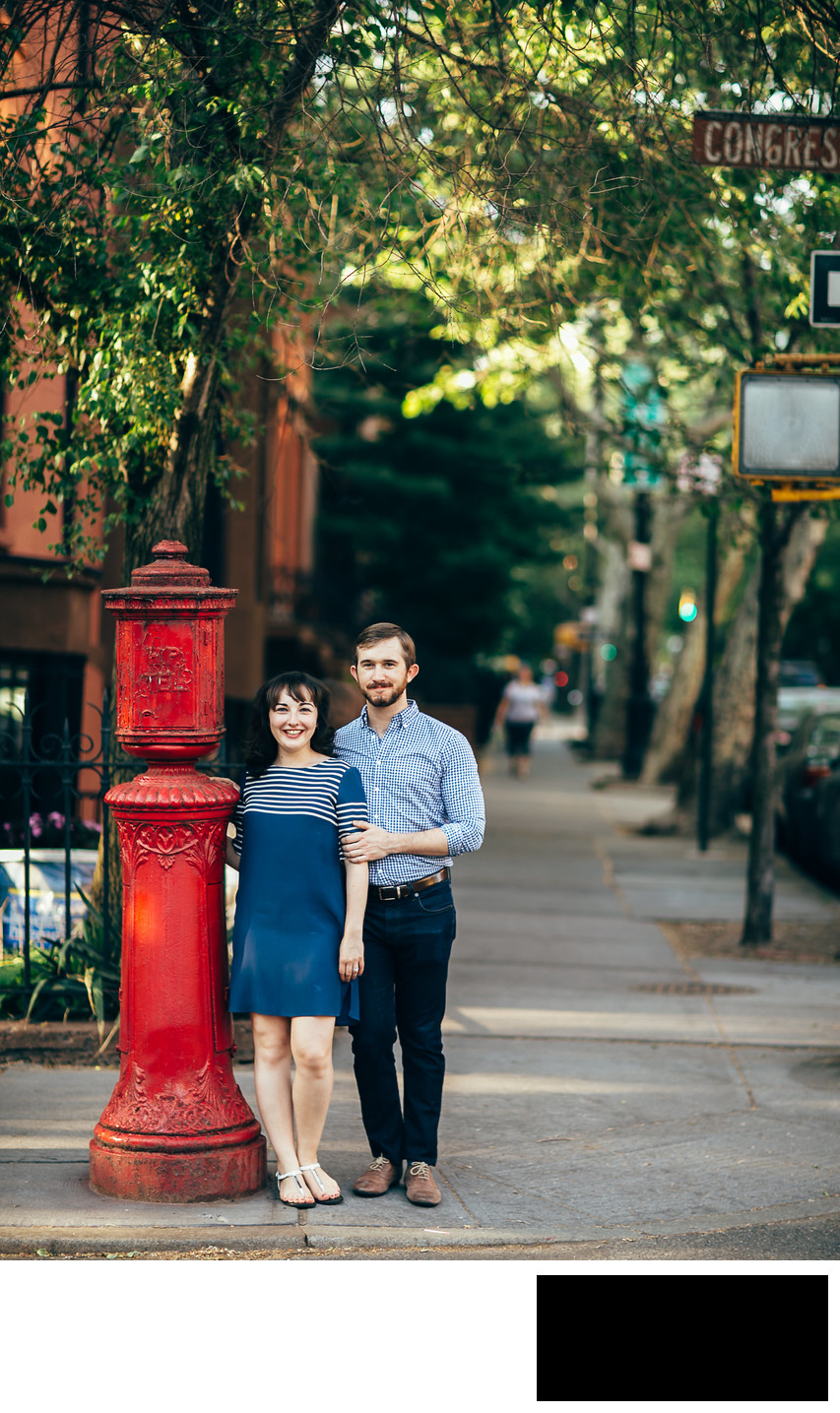 cobble hill in brooklyn engagement photos