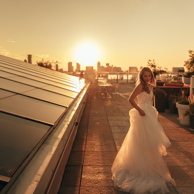 Tribeca Rooftop in NYC Wedding by Sean Gallery