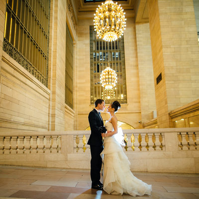 Grand Central Terminal Wedding photos by Sean Kim