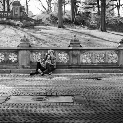 Central Park engagement photos by sean