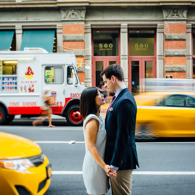 Engagement photos in Soho, NYC