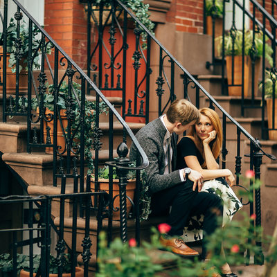 west village nyc engagement photo