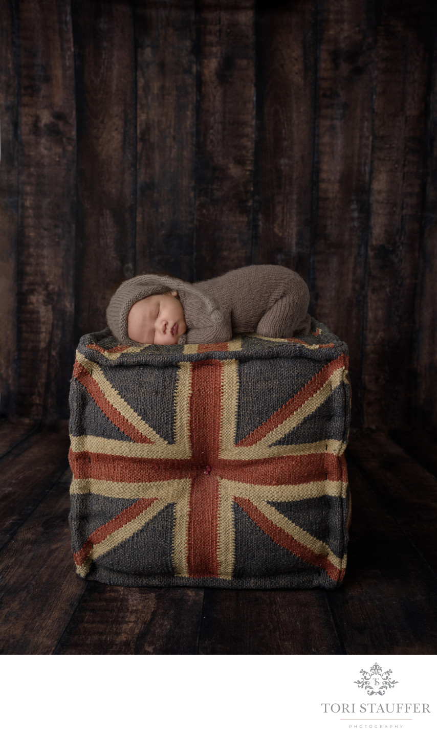 Newborn Photography Philadelphia British Union Jack