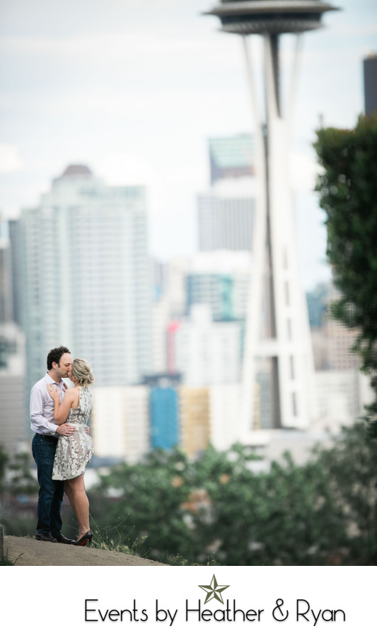 Kerry Park Engagement Photography Near Me Seattle And