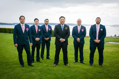 Groomsmen at Environmental Services Building