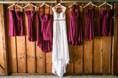 Bridesmaid Dresses at Swan Trail Farms | Snohomish | Seattle