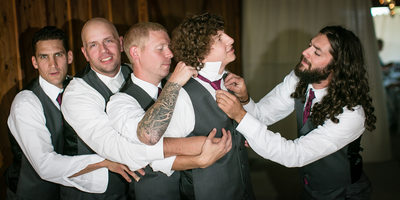 Groomsmen at  Swan Trail Farms | Snohomish | Everett