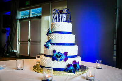 Wedding Cake at  Woodmark Hotel Carillon Point | Kirkland | Seattle