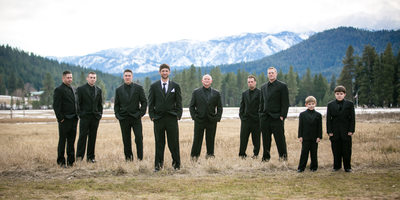 Groomsmen at  Mountain Springs Lodge | Leavenworth