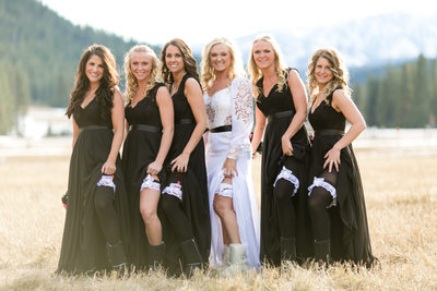 Bridesmaid Dresses at Mountain Springs Lodge | Leavenworth | Chelan