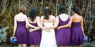 Wedding Bridesmaid Photo at Lord Hill Farms Snohomish in Snohomish
