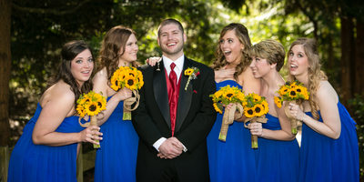 Bridesmaids at Pickering Barn Issaquah