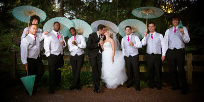 Pickering Barn Wedding Groomsmen and Bridesmaids | Sammamish