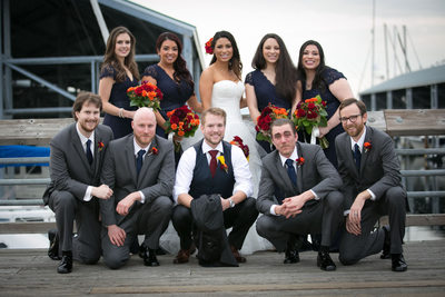 Bridesmaid Dresses and Groomsmen at Edmonds Yacht Club |