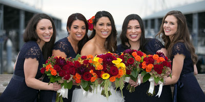 Bridesmaids at Edmonds Yacht Club