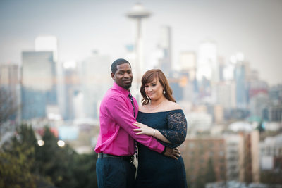 Kerry Park Space Needle Engagement Photography