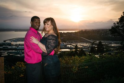 Kerry Park Sunset Engagement Photography