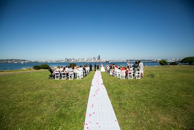 Alki Beach Wedding Photographer