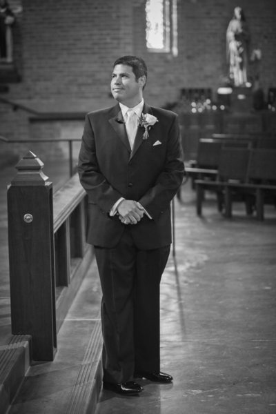 Wedding Photo at Blessed Sacrament Church | Seattle