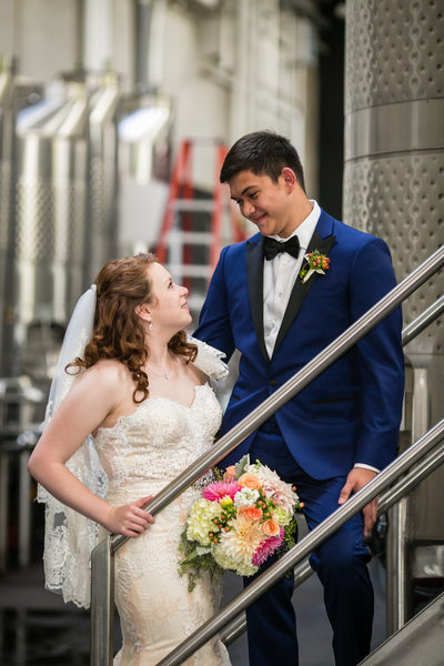 Wedding Photo at Novelty Hill Januik Winery | Seattle | Woodinville