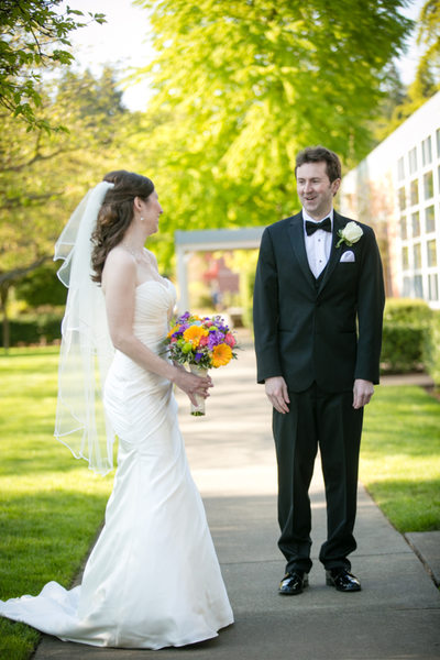 Wedding Photo at  Holy Family Catholic Church Kirkland | Bellevue