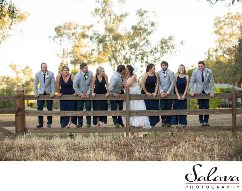Bridal party in the country