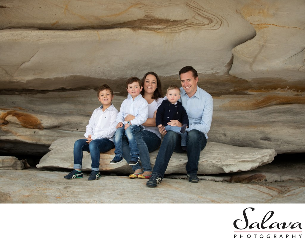 Family portrait at Balmoral Beach