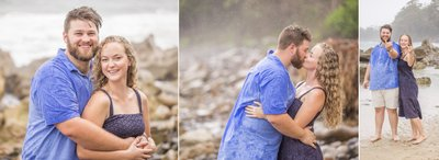 Beach Proposal - Kiss In the Rain