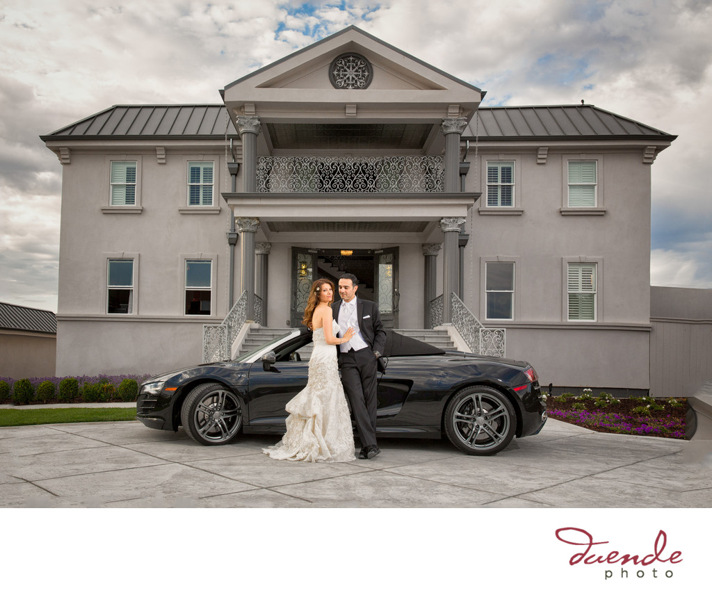 Bride and Groom Audi Race Car