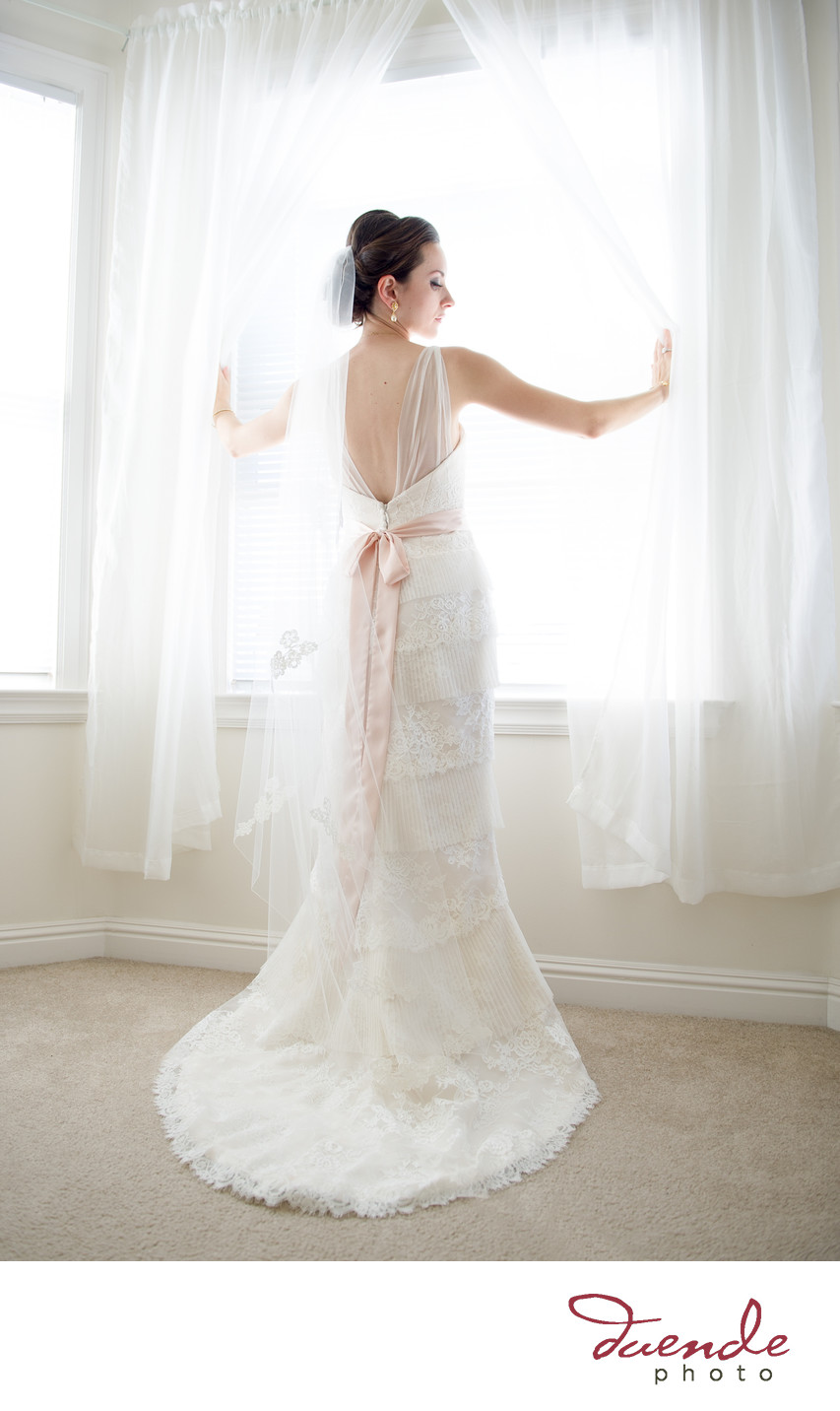 Bride in gorgeous window light