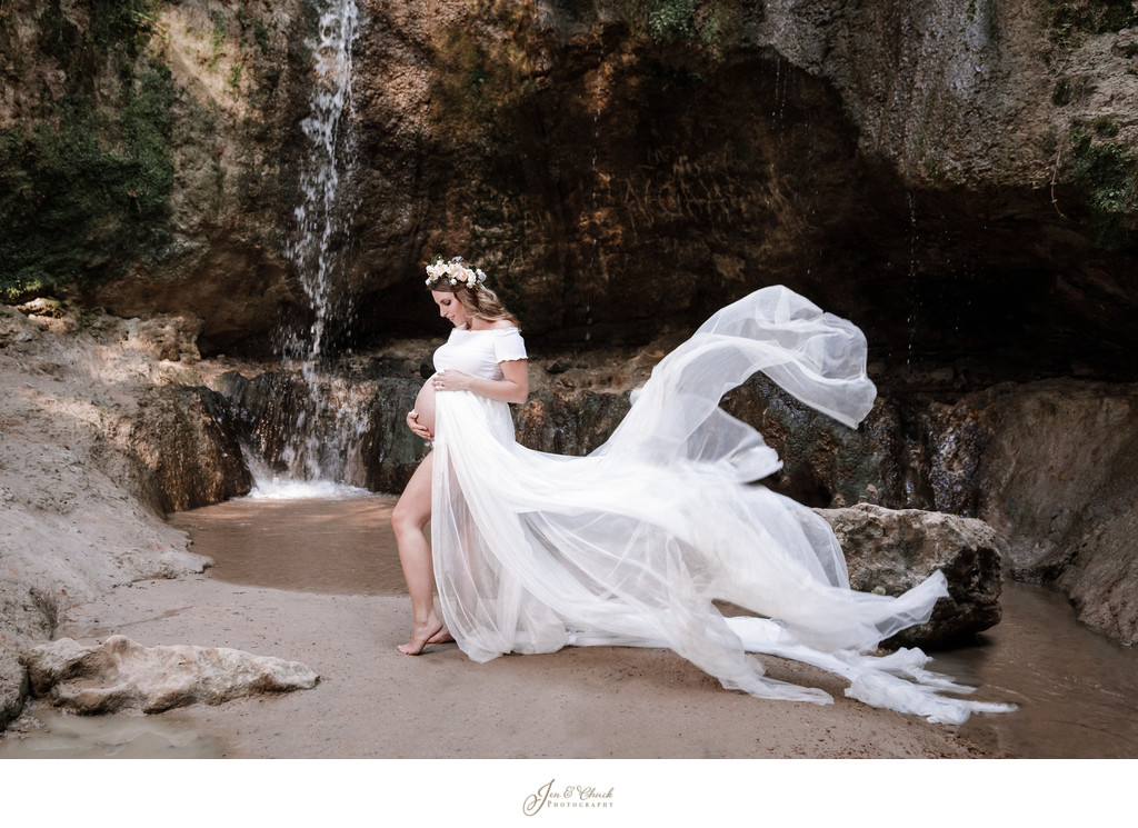 Maternity at a Waterfall
