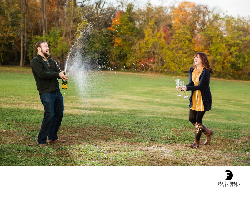 Belmont Plateau engagement photos