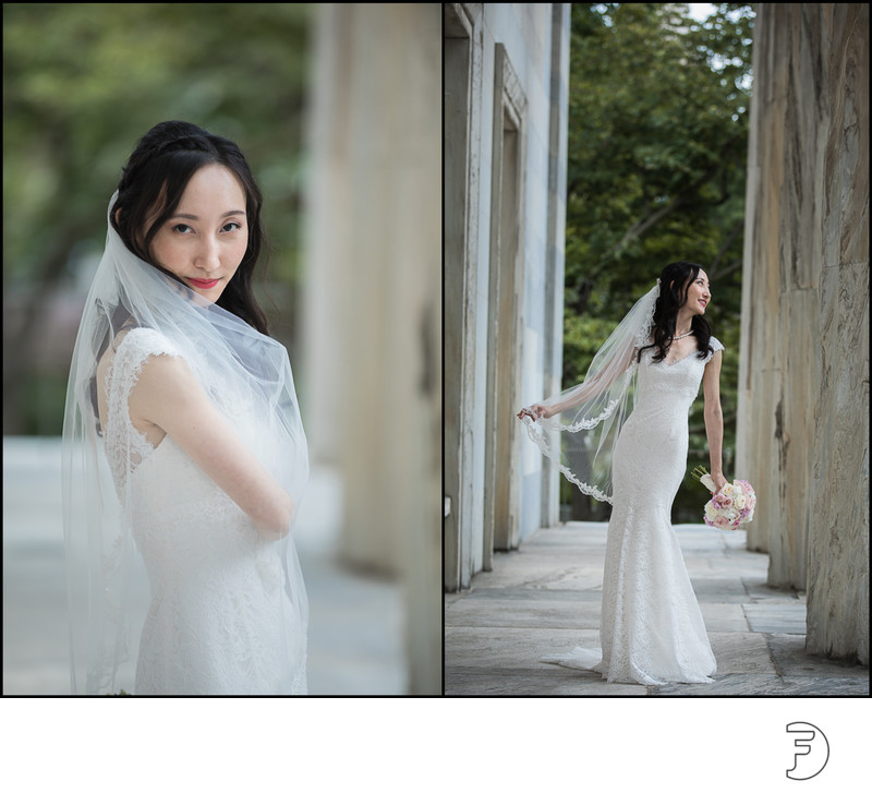 Bride portrait at Second Bank of Philadelphia