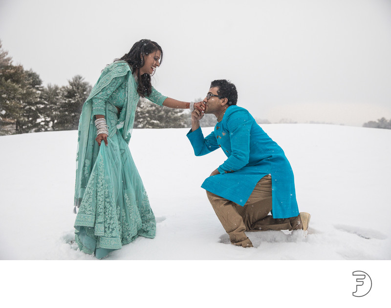 Indian engagement in the snow