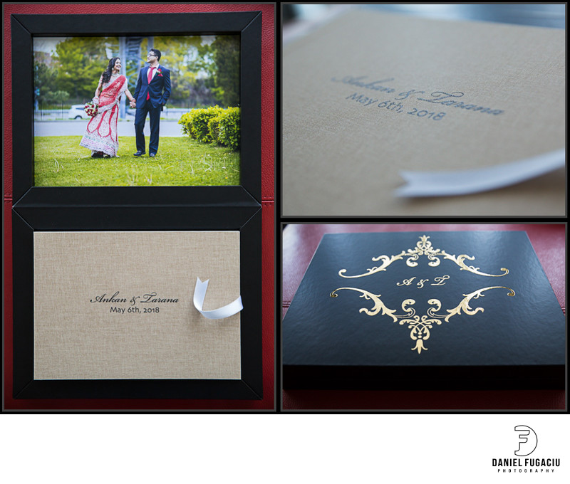 Signature wedding Book with linen cover and embossing