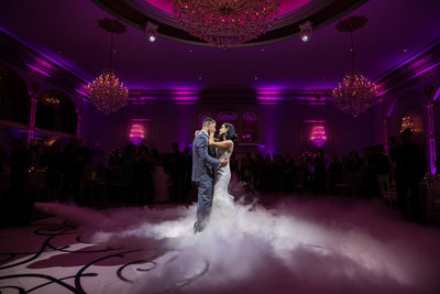 Bride and groom first dance at Lucien's Manor in NJ