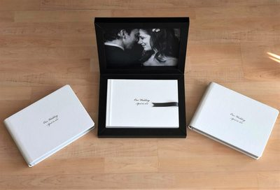 Signature wedding album with matching parent albums