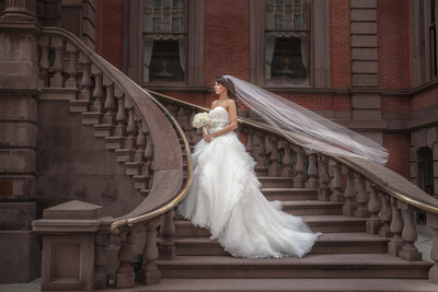Union League bridal portrait